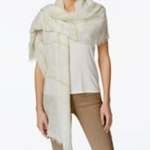 Steve Madden Coastal Crosshatch Day Wrap & Scarf
